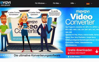 Movavi Video Converter: Audio- und Videodateien bequem umwandeln.